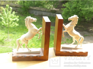 Букенды - 2 упора для книг - германия - кони лошади
