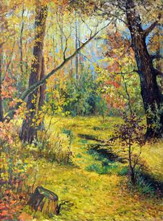 """""""Осеннее утро"""" (Мясоедов Г. Г. 1893)копия Креминский Андрей."""