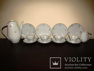 Сервиз 14 предметов чашки блюдца тарелки чайник молочник клеймо Uhlstadt Германия