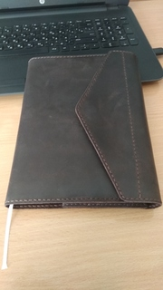 Кожаная обложка для ежедневника, блокнота, книги ручной работы