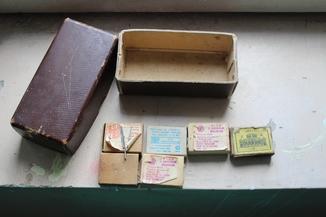 Шість коробків з клеймованими новими голками для шиття часів СССР