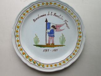 Тарелка Франция фаянс ручная работа.