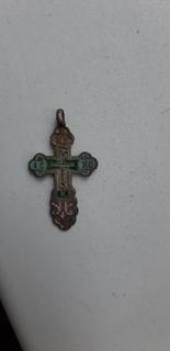 Серебряный крестик крест серебро 84 проба  XIX в. 19 век