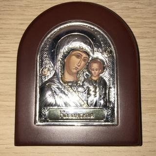 """Икона """"Казанской Божьей Матери"""" с серебром"""