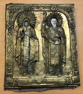 Икона Святые Мефодий и Кирилл.