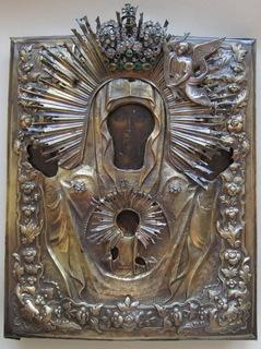 Икона Божией Матери «Знамение» оклад 84 пр.