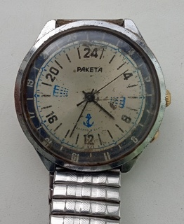 Часы Ракета 24 часа (вахта морские)