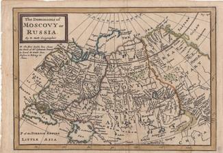 Старинная карта. 1748 год. Бумага Верже. Картограф Молл. (27,7х19,5см.).