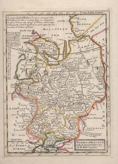 Старинная карта. 1729 год. Бумага Верже. Картограф Молл (35,2х24,1см.).