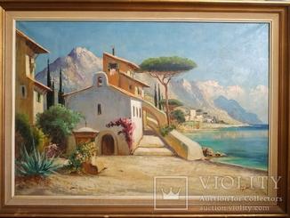 Домик у моря/A. Giraldo (1914 - 2001)/78*108 см