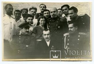 Встреча актеров с участ. русско-японской войны, Георгиевским кавалером. Миргород, 1955 г.
