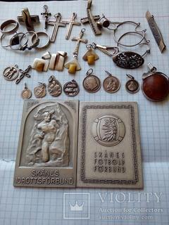 Серебро- 240 грамм,2 плакетки Швеция награды 1961-62год