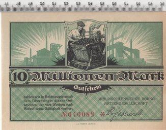 10 миллионов марок 1923 год. Германия.