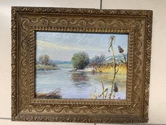 Картина Дороднов Н.И. «Река Уды под Харьковом» 1986 г.