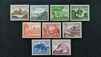 1939 г 3 Рейх Благотворительные марки Замки
