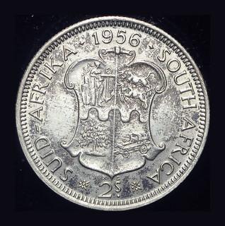 Британская Южная Африка 1-2 кроны 1956 Unc серебро
