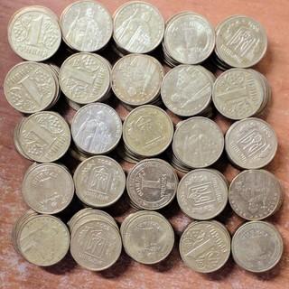 Лот монет 1 грн . 250 шт.