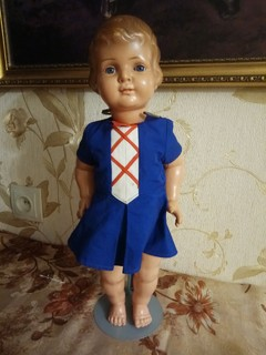 Кукла целлулоидная  Schutz Marke Германия , клеймо