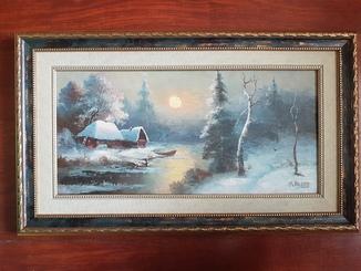 "Карл Розен. ""Зимний пейзаж"". 19 век. С экспертизой."