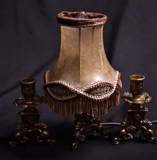 Набор Настольная лампа + 2 подсвечника