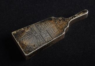 Бонбоньерка  серебро 950 штихель