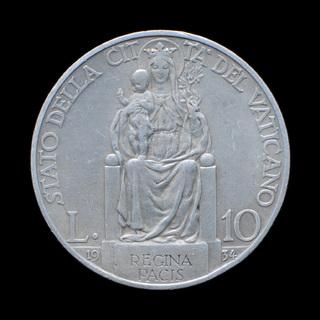 10 Лир 1934 Папа Пий ХІ, Ватикан