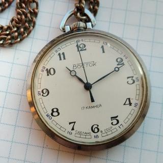 Часы Восток карманные с шатленом мех.2409А