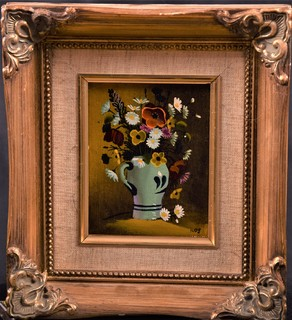 Картина Цветочный натюрморт Букет подпись Европа