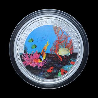 5 Долларов 1994 Защита Морской Жизни, Рыбы, Палау Колоризированная