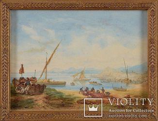 Картина- рыбаки Неаполь - Auguste Etienne