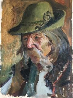 Портрет Гуцула ( Закарпатський художник)