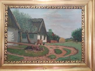 Сельский двор/D. Friess/71,5*92,5 см
