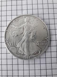 Один доллар США 1991 г.Шагающая свобода.