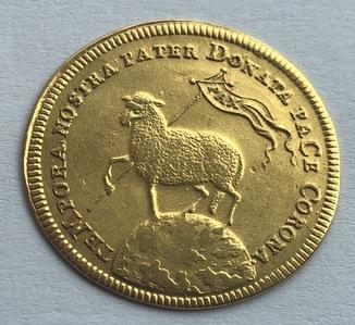 2 дуката 1700 год Нюрнберг золото 6,97 грамм