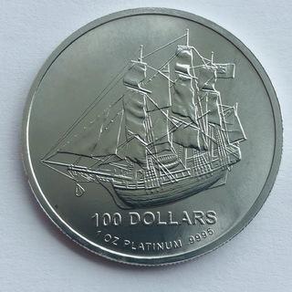 100 $ 2009 год Острова Кука платина 31,1 грамм 999,5'