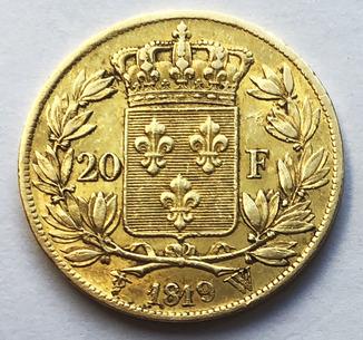 20 франков 1819 года.