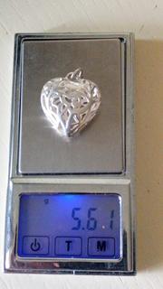 Кулон серце 925 проби, вага 5,61 грм.