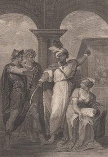 "Старинная гравюра. Шекспир. ""Тит Андроник"", акт IV. 1803 год. (43 на 33 см.)."