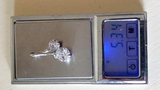 Кулон з двома каменями, вага 5,34 грм.