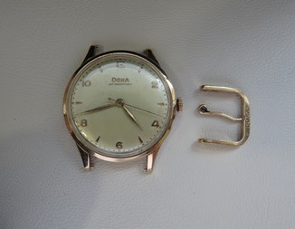 Doxa Швейцария золотой корпус 585`