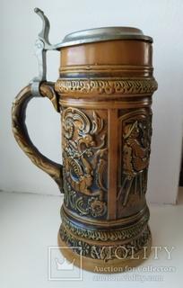 Коллекционная пивная кружка. Simon Peter Gerz. 1 литр. Германия.