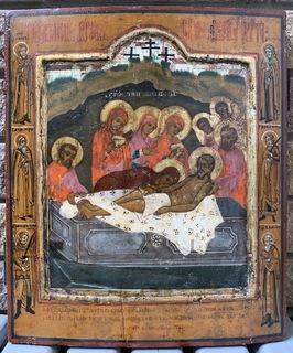 Икона «Положение во гроб», 35,5x31 см
