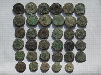 Бронза Рима. 35 монет, в том числе 10 сестерций.
