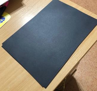 Чёрная бумага для оформления коллекций А4, 50 листов