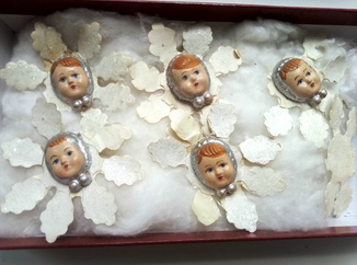 Снежинки с лицами 5 шт.