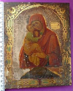 """Икона. """"Почаевская Богородица"""". Подписная. 1888г."""