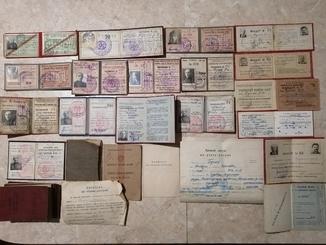 Много удостоверений Майора НКВД(СМЕРШ) и другие его документы