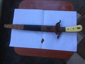 Нож с гравировкой + клеймо W KC