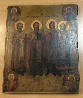 Икона Св. Василий Великий и Св. Иоанн Воинь