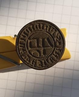 Печать купца из ганзейского города Везеля с личным знаком (гмерком) 15 век